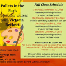 Pallets in the Park: Watercolor Classes with Victoria Beckert