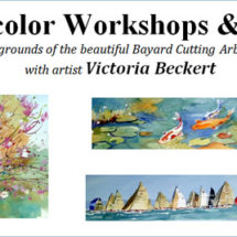 Watercolor Workshops & Lunch with Victoria Beckert at Bayard Cutting Arboretum