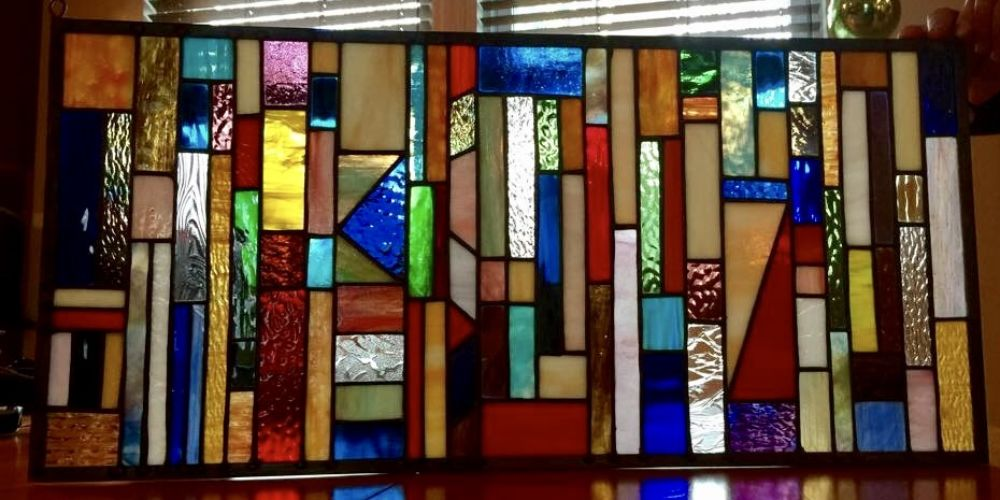 stained glass vertical