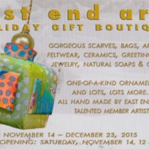 Julianna Kirk at the East End Arts Council Annual Holiday Gift Boutique
