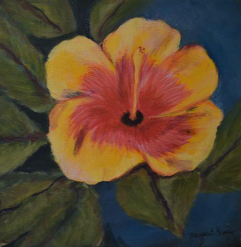 Hibiscus Flower 10X10 Acylic