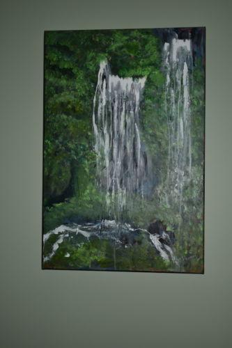 Waterfall #2 Maui 20X30 Mixed Media